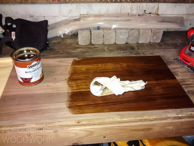teak cutting board project fledgling woodwork